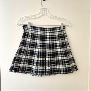 American Apparel Plaid Tennis Mini Skirt